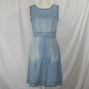 Denim Midi Length Casual Dress Size 8